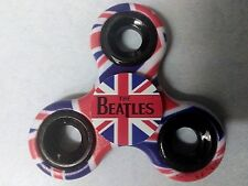 Fidget Spinner Beatles British Flag Print 3D wrapped 2 sided Bright Colors RARE!
