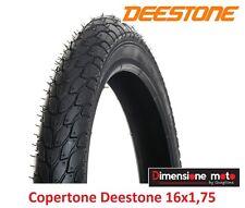 """Copertone Deestone 16x1 75 D-818 Nero Semislick/stradale per bici 16"""" Graziella"""
