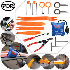 15pc Car Dash Door Panel Removal Radio Open Pry Trim Clip Pump Wedge Hand Tools