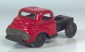 """Vintage 1950s Tin Semi Tractor Cab 4.5"""" Scale Model Friction Powered Japan"""