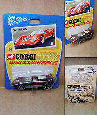 "1 Vintage ('70s) Corgi Juniors Whizzwheels - No.50 ""Ferrari 512s"" - Mint On Card"