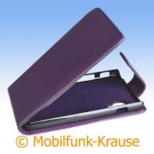 Flip Case Etui Handytasche Tasche Hülle f. LG E460 Optimus L5 II (Violett)