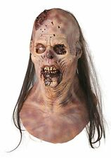 Halloween MAGGOT BUFFET ZOMBIE ADULT LATEX DELUXE MASK WITH HAIR COSTUME NEW