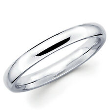14K SOLID 2.5MM WHITE GOLD COMFORT FIT Women's WEDDING BAND RING Choose:5,5.5,6,