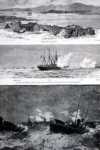 Ireland Coast BLACK BALL HEAD 1888 ENGLISH NAVY Berehaven Bantry Bay Matte Print