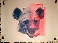 """JAMES BAKER sérigraphie""""Portrait 118"""" sign-num/1/street-art/banksy/space invader"""