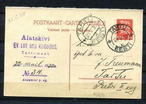 Estonia/Estland Postal Stationary Card U 5 addres line bold line under 4th 9406