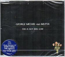 GEORGE MICHAEL AND MUTYA - THIS IS NOT REAL LOVE - CD SINGLE ( NUOVO SIGILLATO )