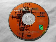 Generator Demo Disc Vol.1 ●DISK ONLY● (Sega Dreamcast) 《FAST WORLDWIDE SHIPPING》