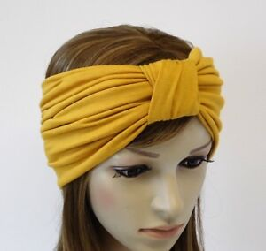 Wide turban headband, yoga headband, top knot turban, stretchy headband turban