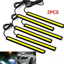 2x Bright White Car COB Waterproof LED Lights 12V DRL Fog Driving Lamp Strip