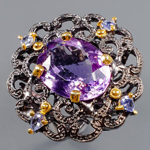 11ct+ Handmade Amethyst Ring Silver 925 Sterling  Size 8 /R163138