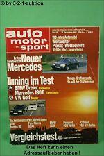 AMS Auto Motor Sport 25/84 * BMW 525i Citroen CX GTi Turbo Ford Sierra XR4