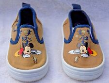 Canvas Disney Mickey Slip On Shoes Tennis Athletic Sneakers little explorer sz 5