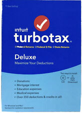 Intuit TurboTax Deluxe 2019 Federal + State - CD And Download - New, Free Ship