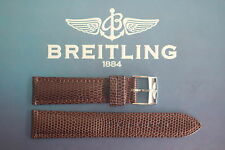 QUALITY 24MM BROWN LIZARD PRNT WATCH BAND WATCHBAND BRACELET STRAP FOR BREITLING
