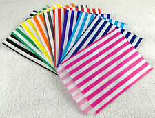 "30 X 5"" by 7"" stripe bags sample pack 10 colours (3 of each) Pick 'n' Mix"