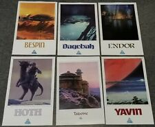 "Star Tours Vacation Destination 11""x17"" Reprint 6 Poster Set Wars Dagobah-Hoth++"