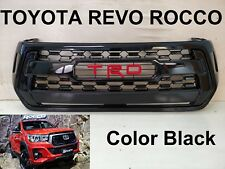 TOYOTA HILUX REVO ROCCO Front Grille Grill PARTS STYLE Black Gloss Color 2018-19