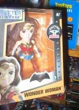 WONDER WOMAN DIE CAST METAL FIGURE,  BROWN HAIR VARIANT, UNOPENED. FROM JADA