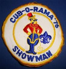 Vintage Boy CUB Scout BSA BADGE PATCH CUB-O-RAMA 1976 SHOWMAN