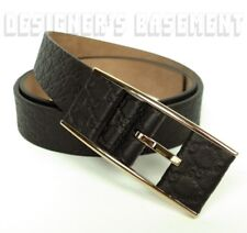 GUCCI black 38-95 MICRO GUCCISSIMA leather covered buckle belt NWT Authentc $355