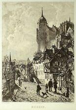 MEISSEN - Ludwig Friedrich - Radierung 1900