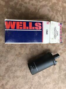 Ignition Coil Wells C840 NOS Wells C840 Ignition Coil 12V 79-88 Chrysler Import