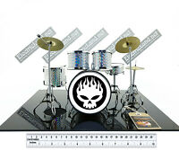 Mini Drum set the OFFSPRING tribute scale 1:4 miniature gadget collectible kit