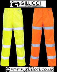 Hi Viz Vis Visibility Polycotton Poly Cotton Work combat trousers up to size 52