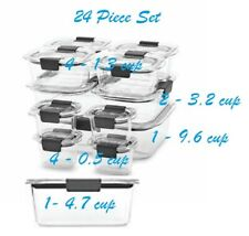 Rubbermaid Brilliance 24 Piece Stain Resistant Food Containers 199 - New