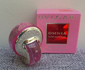 Bvlgari Omnia Pink Sapphire Eau de Toilette mini Perfume, 5ml, Brand New in Box!