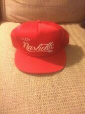 Vintage Young An Enjoy Nasville (Coke Like) Snapback Mesh Trucker Hat Rare Mint
