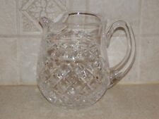 """WATERFORD CRYSTAL GLANDORE ICE LIP JUG PITCHER SIGNED 6 1/2"""" EXCELLENT!"""