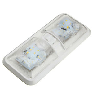 12V 48LED Ceiling Double Dome Interior Light Fit For Car Camper RV Accessories