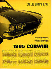 1965 CHEVROLET CORVAIR ~ ORIGINAL 5-PAGE DRIVERS REPORT ARTICLE / AD