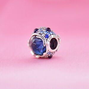 Authentic Pandora Charm 799209 Silver925 ALE Celestial Blue Sparking Stars Bead