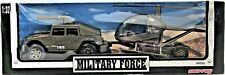 New-Ray Military Force Military Jeep W/ Auxiliary Troop Royal Navy Helicopter