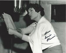 POP SINGER CONNIE FRANCIS HAND SIGNED 8x10 PHOTO C w/COA WHO'S SORRY NOW ALBUM