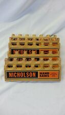 Nicholson Handsaw Display 1960s holds 6 saws Orange and Black
