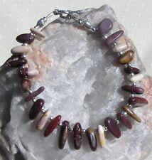 "Mookaite Jasper Crystal Gemstone  Bracelet ""Sandscript"""