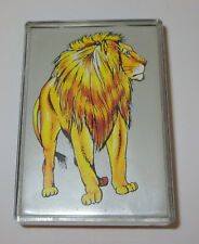Lion Rubber Stamp Foam Mounted Plastic Casing Wild Animal Zoo