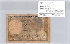 BILLET MADAGASCAR - 100 FRANCS (1961) - RARE !