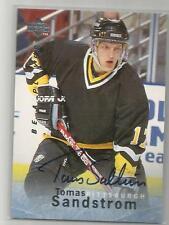 1996 Be A Player Hockey Tomas Sandstrom Autograph Card # S160 On Card Auto!