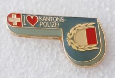 Switzerland Canton of Solothurn police lapel pin badge