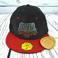 NEW Grassroots California Strap Back Krooked Drivers Red & Black Cap/Hat S-M
