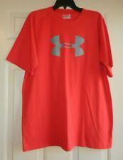 Under Armour Men'S Red Short Sleeve Loose Heat Gear Shirt Size L