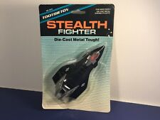 1987 TOOTSIETOY DIECAST METAL STEALTH FIGHTER MOC SEALED MILITARY AIRPLANE PLANE