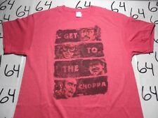 Large- Get To The Choppa Predator Parody Shirt Punch Gildan Brand T- Shirt