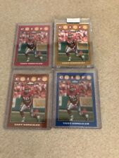 2008 Topps Chrome Tony Gonzalez red TC95 + 3 colored refractor lot